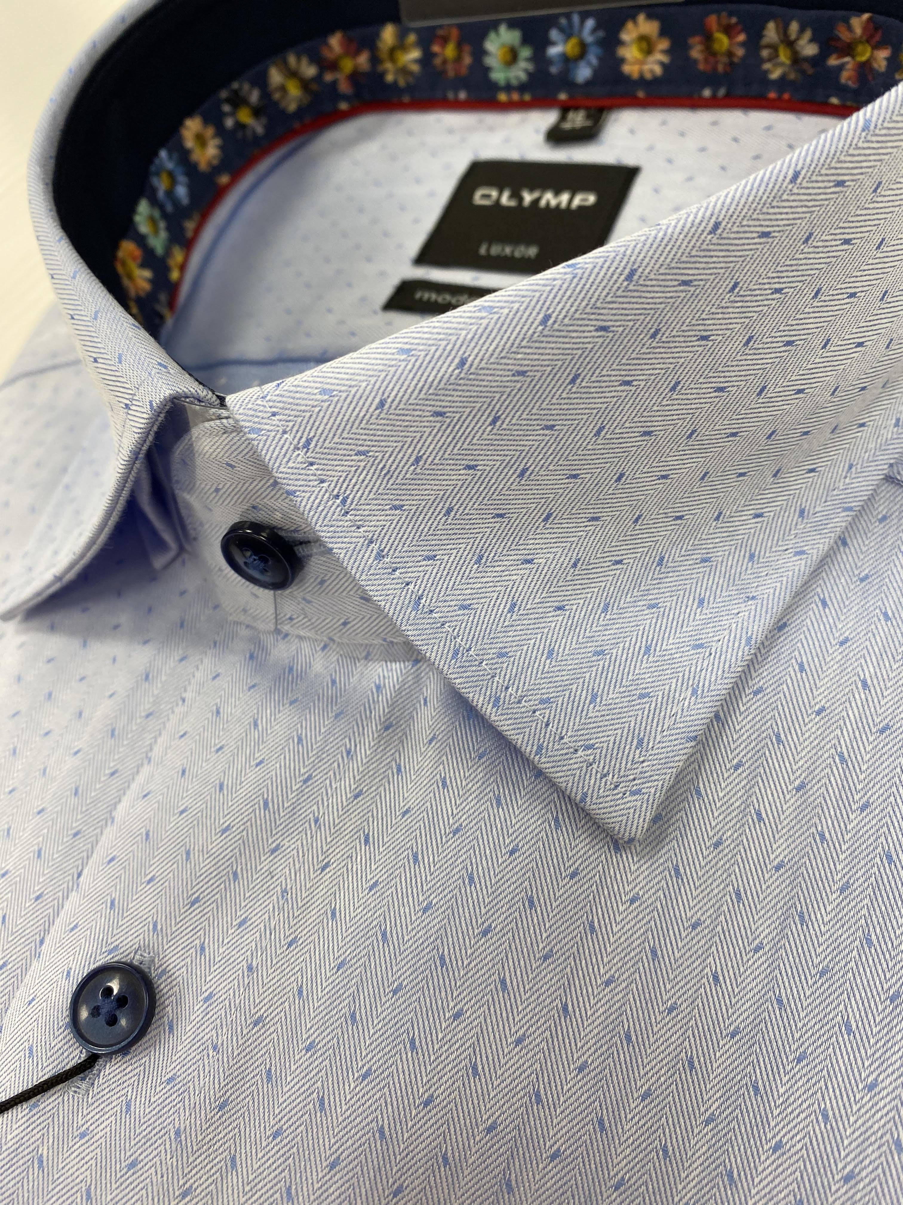 OLYMP   Luxor Modern Fit Blue Shirt