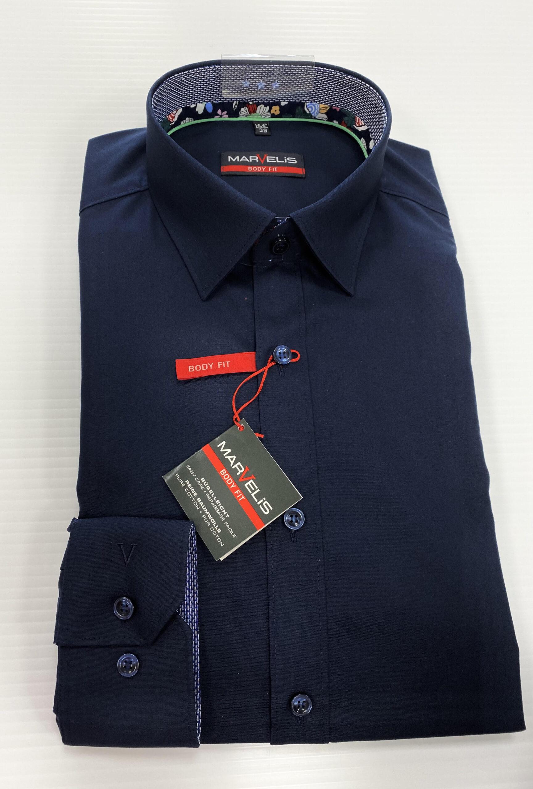 MARVELIS | Navy Body Fit Shirt