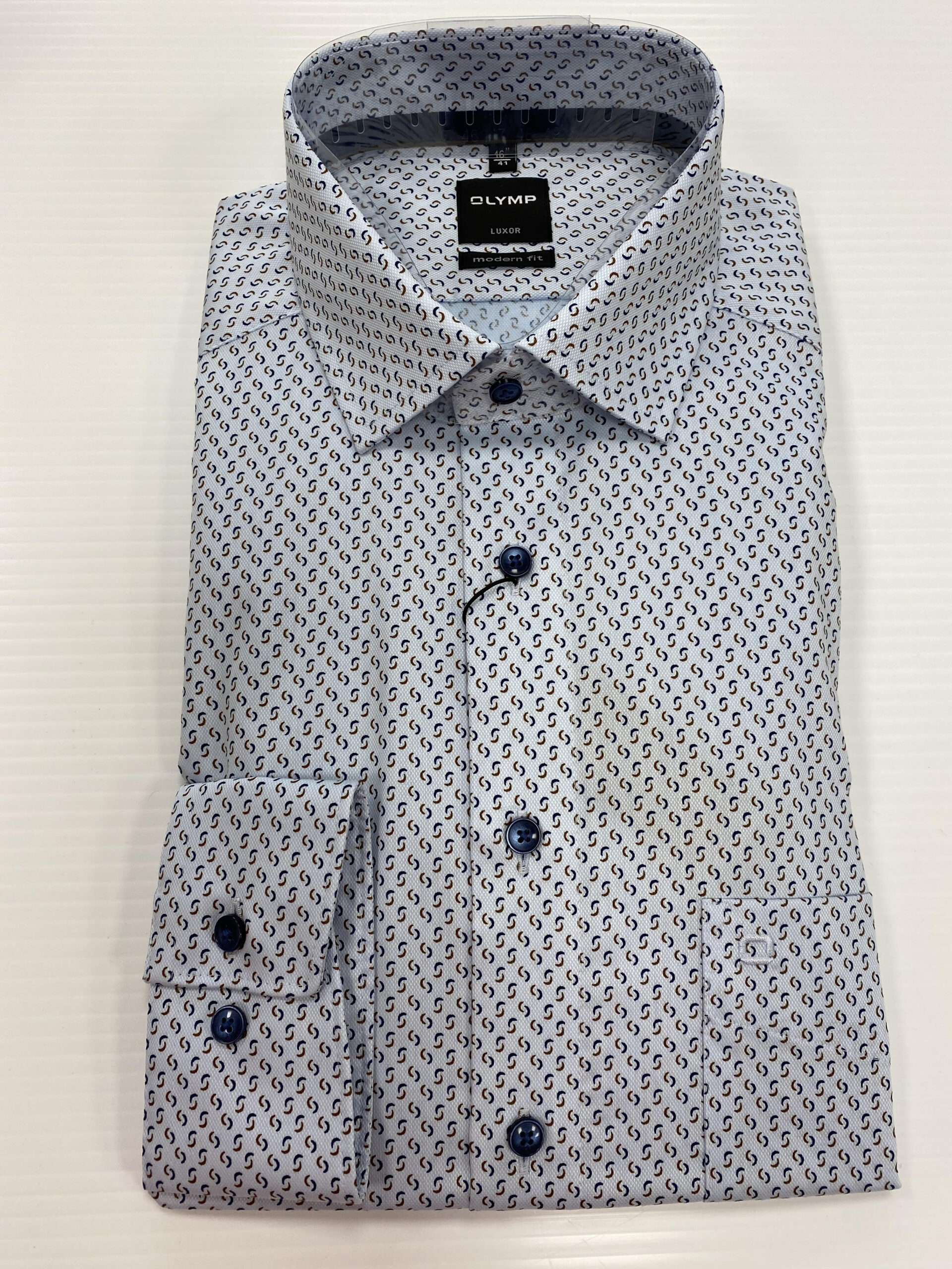 Olymp | Modern Fit Shirt With Pattern