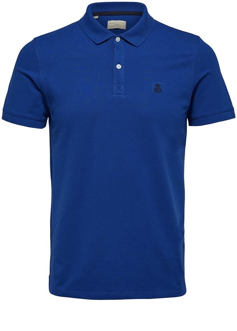 SELECTED   Men's Blue Embroidery Polo