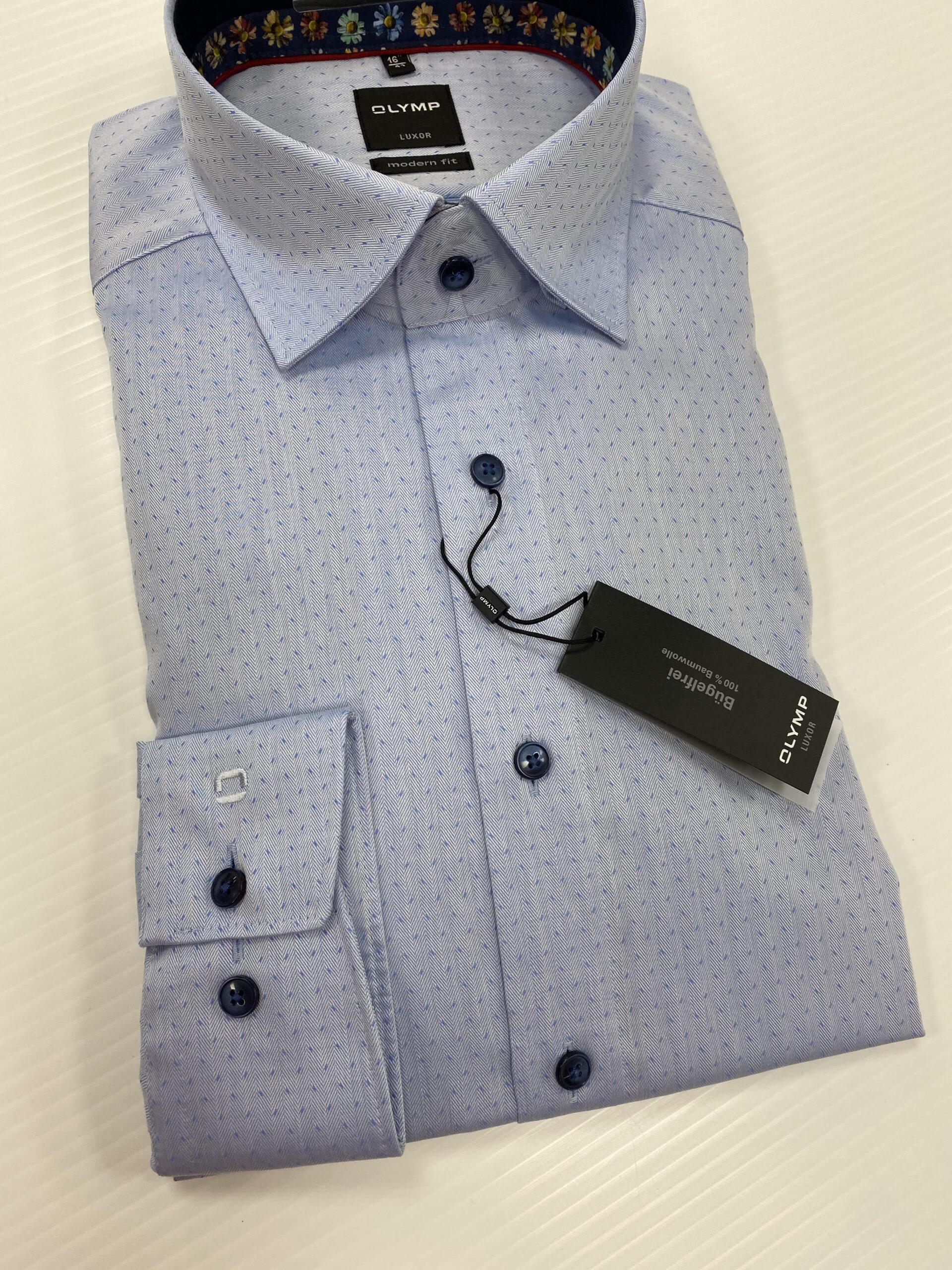 OLYMP | Luxor Modern Fit Blue Shirt