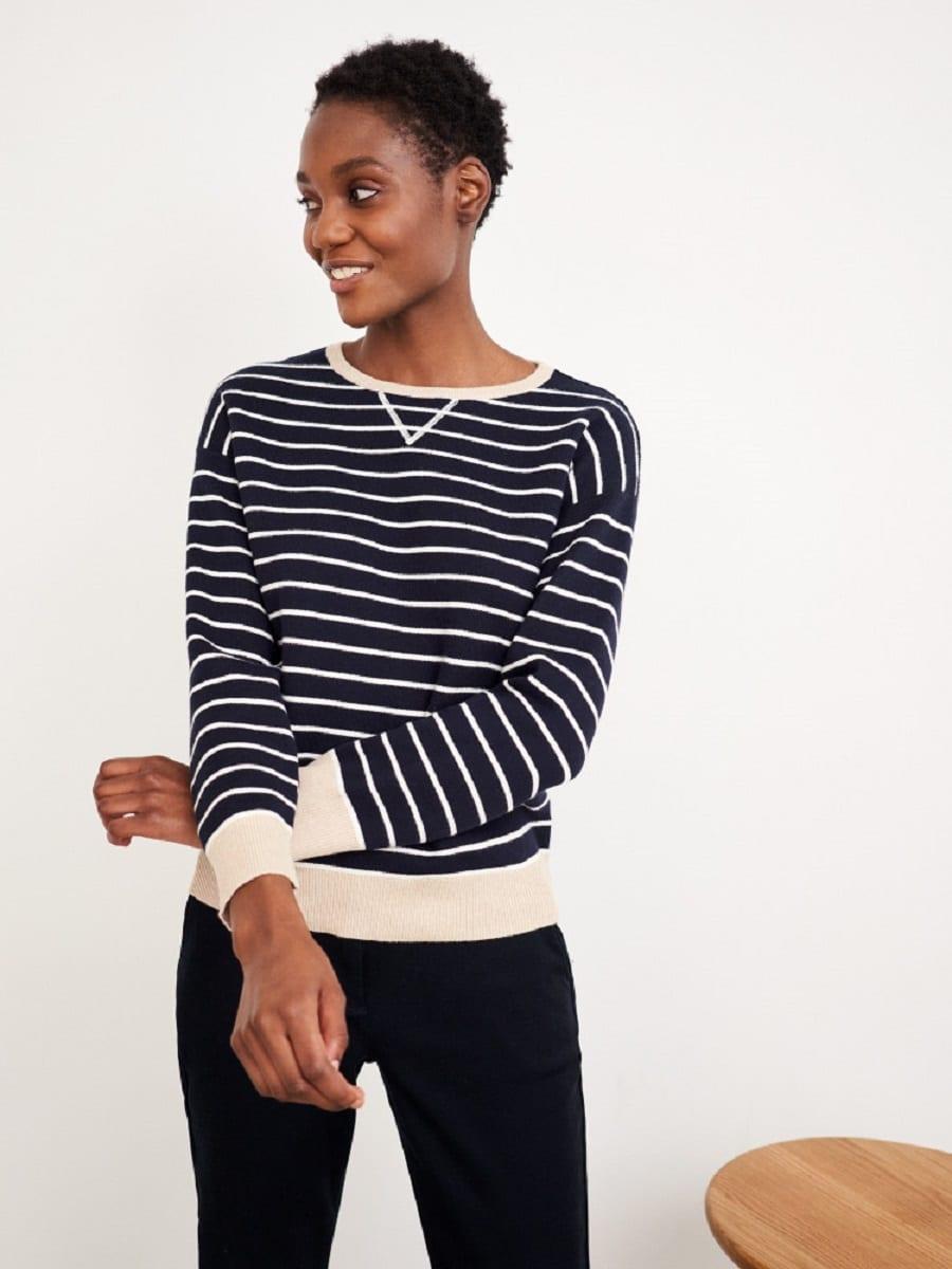 White Stuff | Navy Reversible Sweater