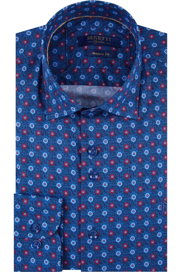 Benetti | Modern Fit Floral Shirt Noah-Red