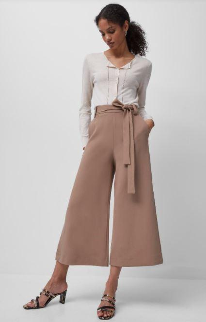 French Connection| Boh Whisper Cropped Trousers