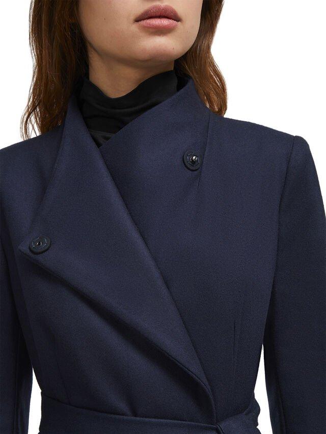 French Connection | Platform Felt Navy Coat