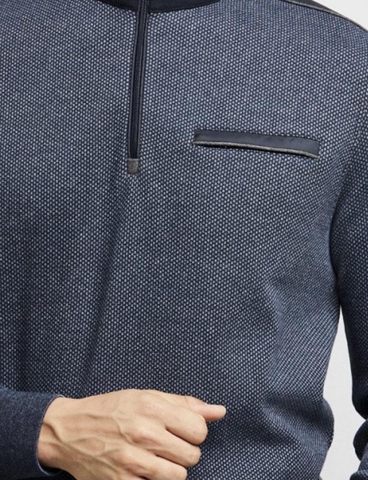 Bugatti | Half-Zip Sweater {Marine}