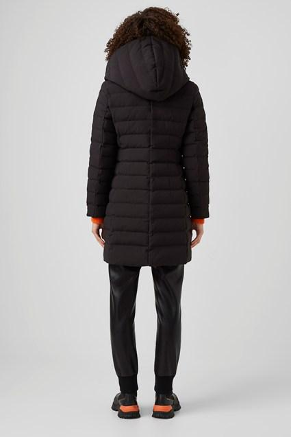 French Connection | Longline Puffer Coat { Black/Red }